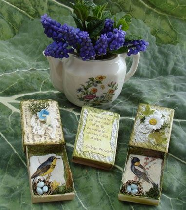 altered matchboxes...