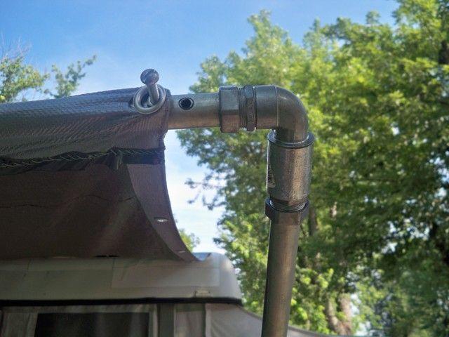 DIY awning made | Diy awning, Trailer awning, Trailer diy