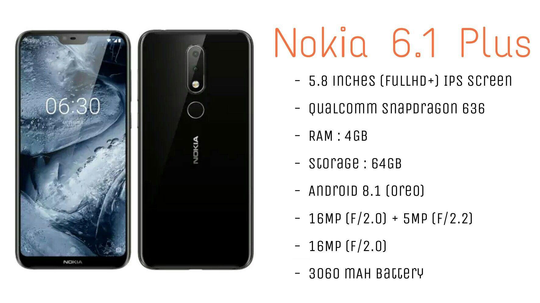 Nokia 6.1 Plus Official Nokia Nokia6 HMDglobal Tech