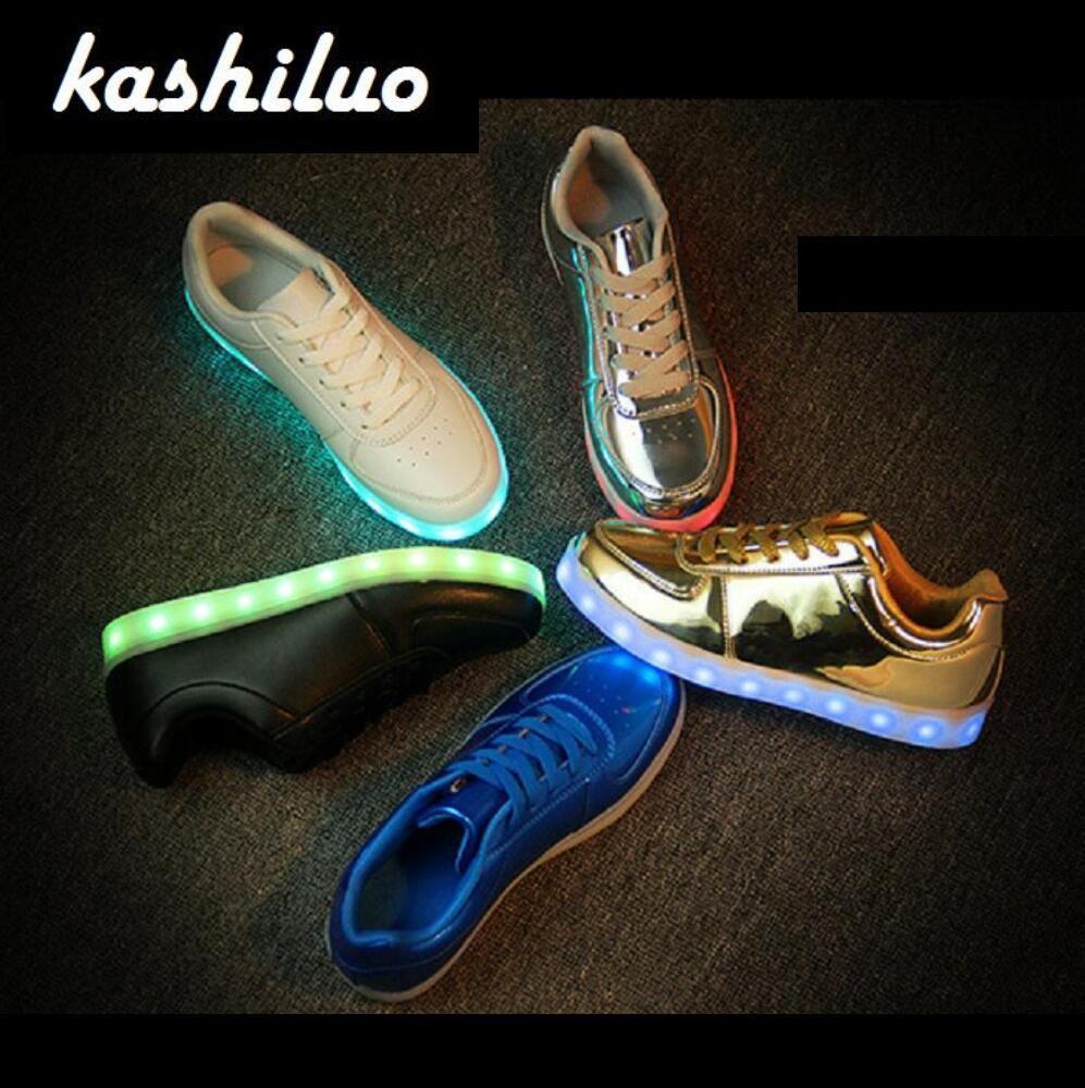 Comprar Eur 31 46 Sneakers Luminosos Carga Usb Levou Criancas Sapatos Da Menina Do Menino Das Mulheres Dos Homens De T Children Shoes Light Up Shoes Boys Shoes
