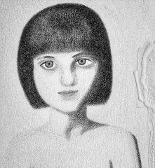 Girl Portrait of Colored Pencil Drawing  doodle  Please follow me  Please make a favorite #coloredpencil#coloredpencils#drawing #coloredpencildraw#analogdrawing#analog#drawingart#analogart#art#brown#brownhair#grey#greyeyes#portrait#girl#gir #SmartNotebook #Reusable