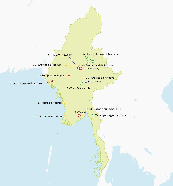 Carte Birmanie Plage.Carte Birmanie Detaillee A Imprimer Zz Voyage Birmanie