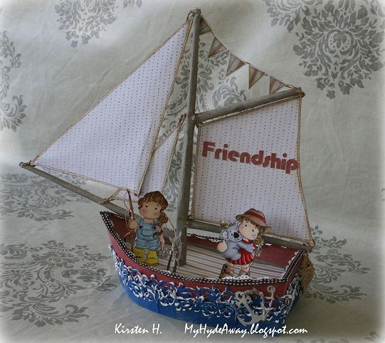 My Craft and Garden Tales: Finally summer! Sailing boat with template