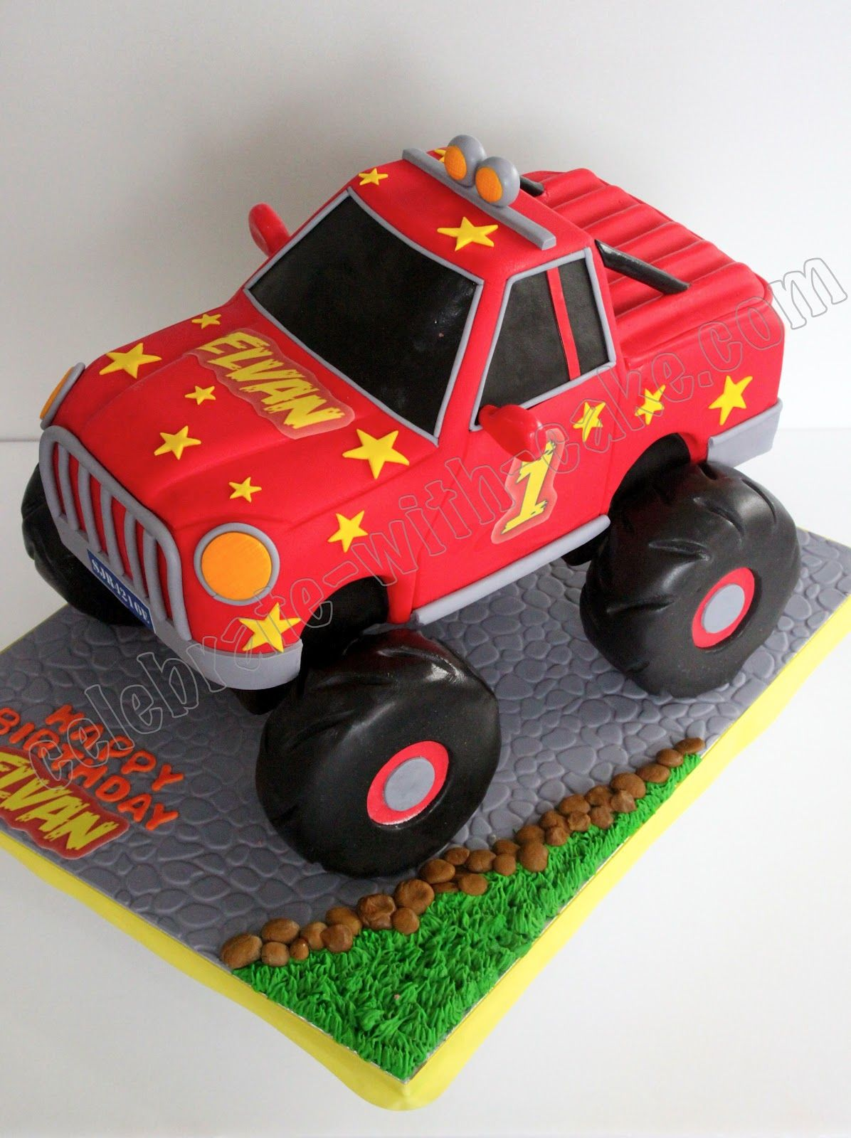 Monster Truck Cake Lennox would love this Cakes Cakes