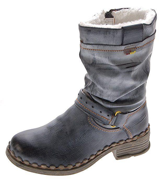 Am besten TMA Damen Winter Stiefel Echt Leder Gefüttert