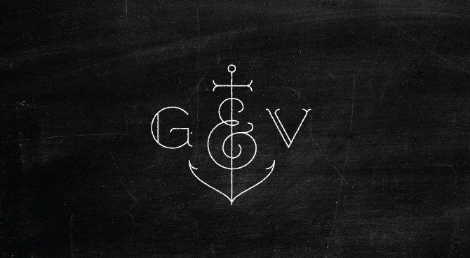 Tattoo Initials Mn: Global & Vine Logo. Studio Mpls.