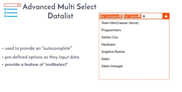 Advanced Multi Select Data List - Multiselect Drop-down with