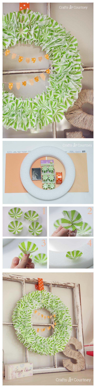 Diy wreath using cupcake liners for easter diy wreath