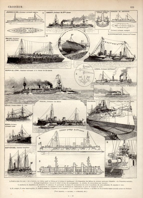 Hey, j'ai trouvé ce super article sur Etsy, chez https://www.etsy.com/fr/listing/198499135/navires-de-guerre-1897-croiseur-antique