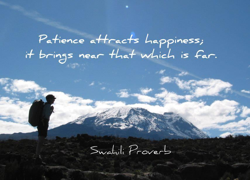Patience attracts happiness; it brings near that which is ...