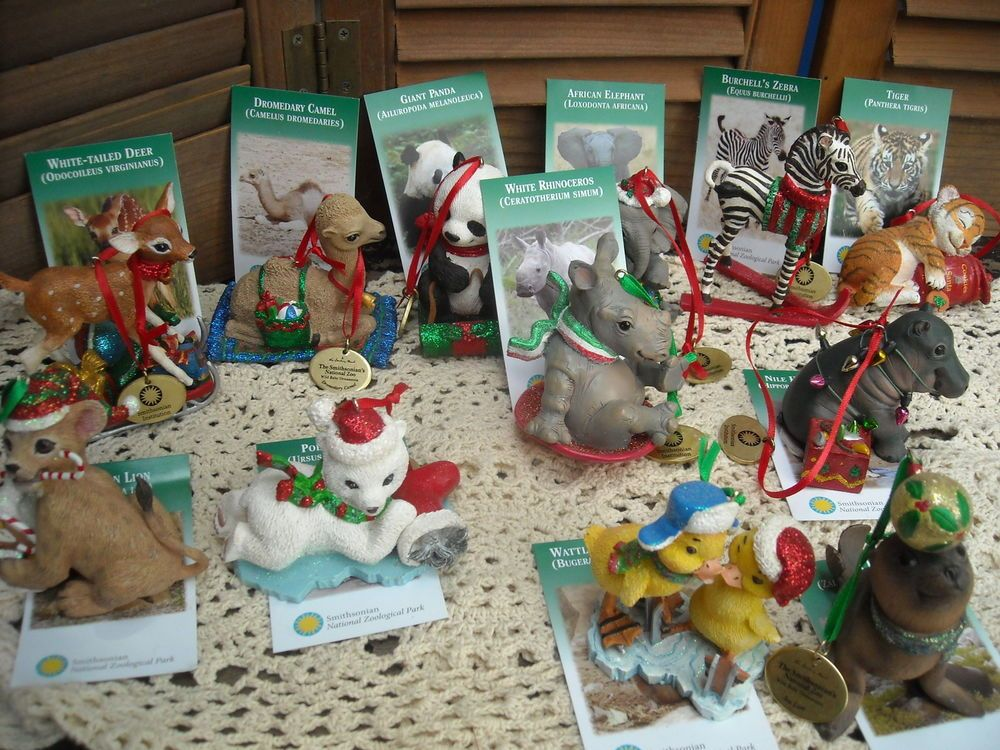 The Danbury Mint Christmas Tree Ornaments Baby Wild Animal