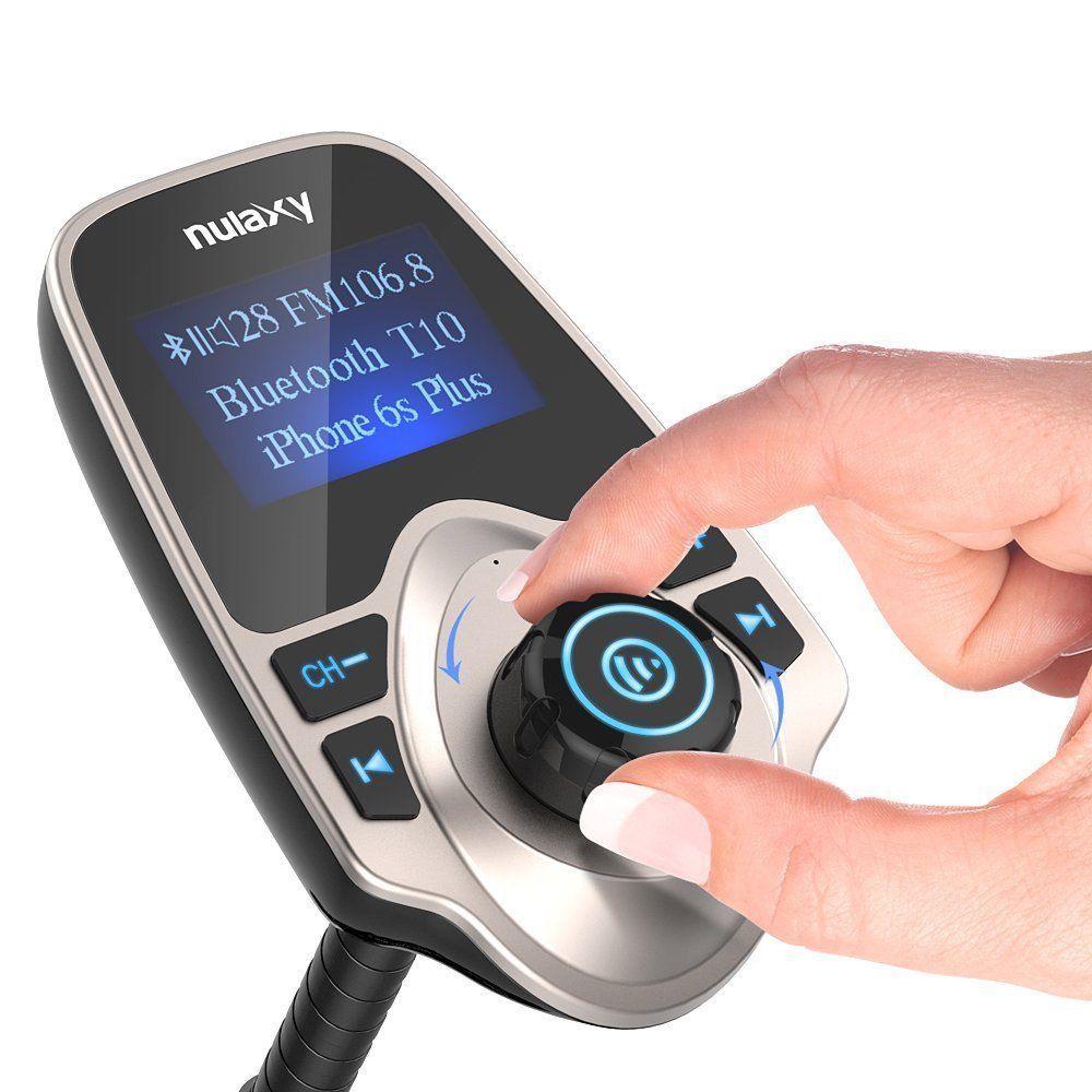 Nulaxy 1.44 LCD Wireless Bluetooth FM Transmitter In-Car Radio Adapter Kit USB