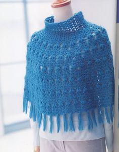 poncho bleu