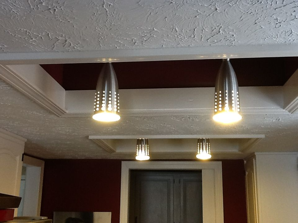Hate recessed fluorescent box lighting? Try this. Take the lights down  paint the interior