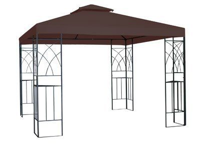 10ft X 10ft X 8 8ft Alexandria Outdoor Gazebo Brown By Empire Covers 359 99 Gazebo Outdoor Gazebos Shade Sail