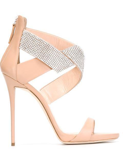 Ella Powder Leather Sandal W/Crystals, Powder Pink | Glitter sandals,  Giuseppe zanotti and Giuseppe zanotti design