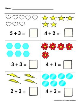 Math Worksheets Grade K 1 Easy Addition Within 10 Ccss