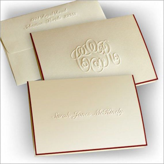 photograph relating to Embossed Stationery called 25 Embossed Notes, Hand Bordered Notes, Tailored Notes