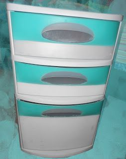 Painted plastic drawer