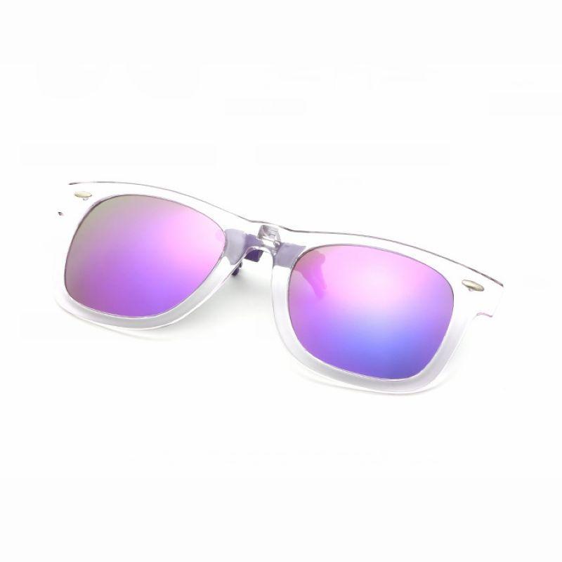 Clip On Flip Up Polarized Sunglasses Green Lens For Prescription ...