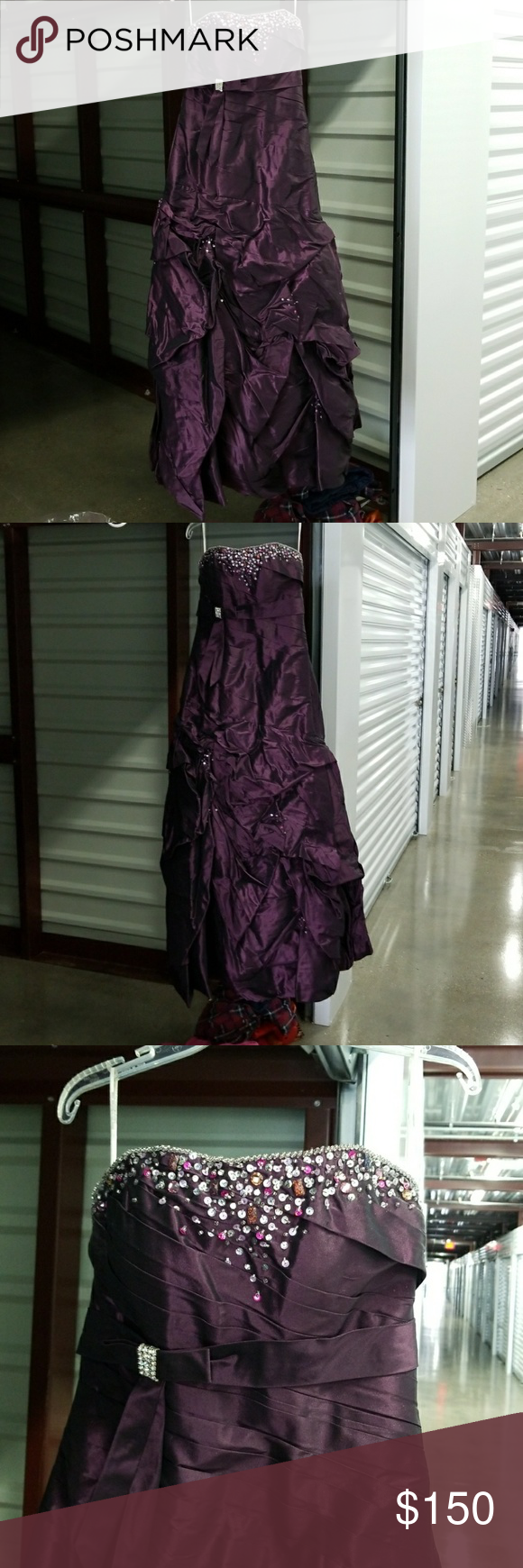 Alyce designs purple strapless prom dress size strapless prom