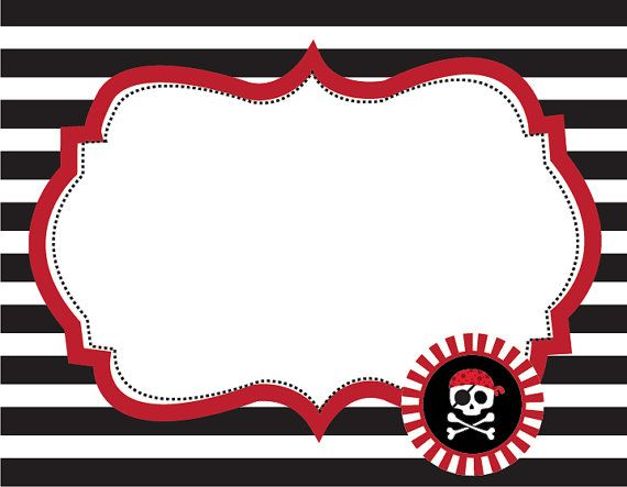 pirate printable fancy labels