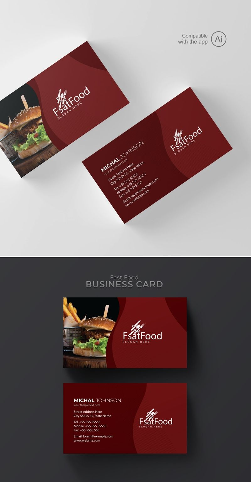Restaurant Business Cards Templates Free Zohre Pertaining To Food Business Cards Te Food Business Card Restaurant Business Cards Free Business Card Templates