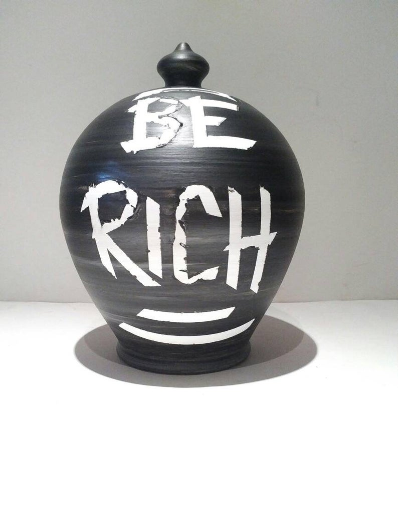 Adult Piggy Bank Be Rich Personalized Coin Bank Personalised Piggy Bank Piggy Banks For Adults Money Pot Money Banks For Adults Personalized Piggy Bank Coin Jar Money Tin