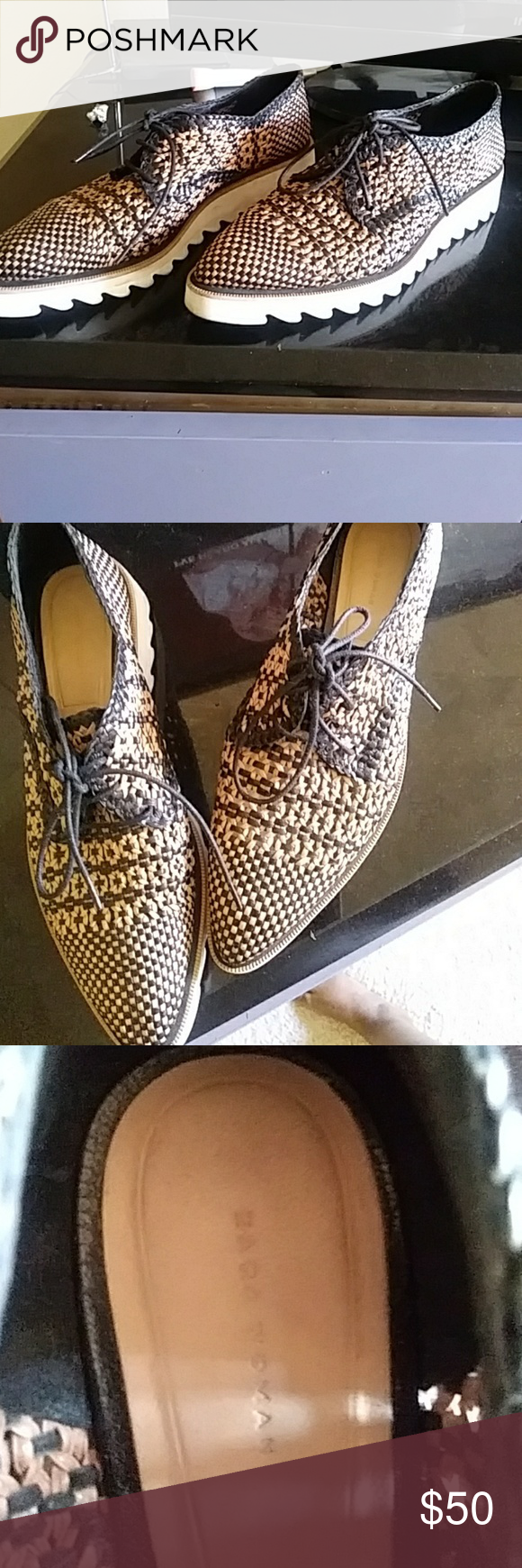 Zara Woven Thick Sole Shoes This Shoes Is So Fun To Pare