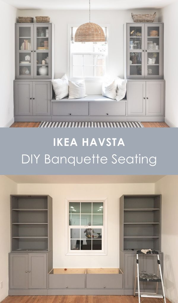 DIY IKEA Banquette Seating Built-in