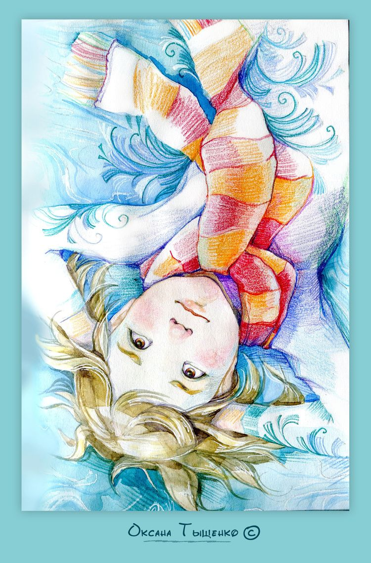 Сообщество иллюстраторов / Иллюстрации / Ксюша Тыщенко / Из серии зимние фантазии.2
