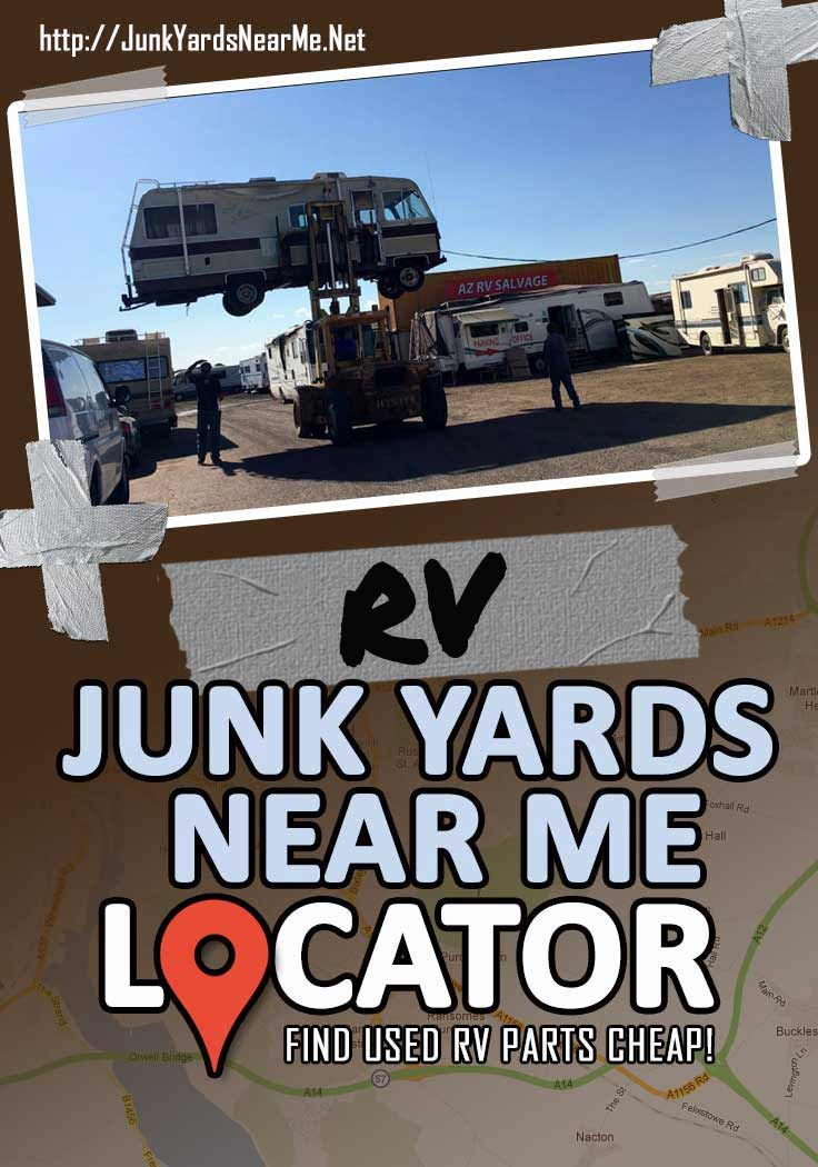 Find An Rv Salvage Yard Near Me Save Money On Used Parts For Your Recreational Vehicle Yard Rv Recreational Vehicles