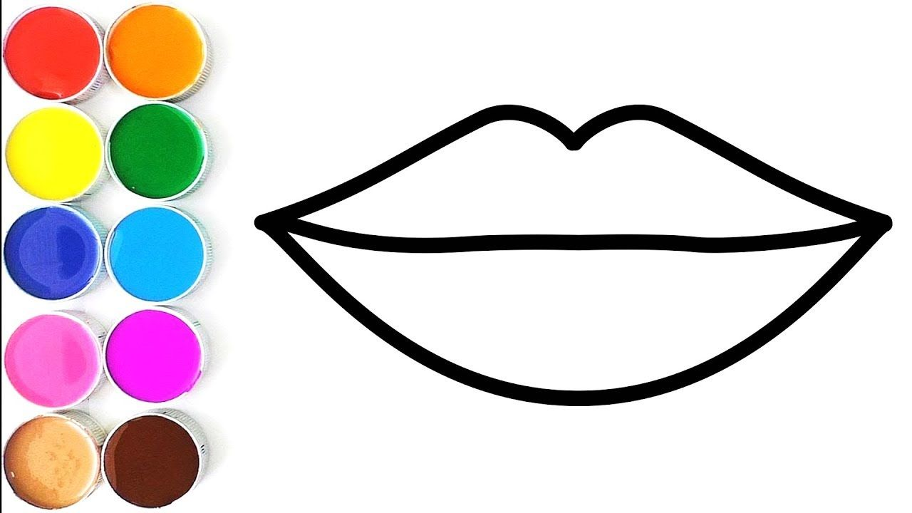 How To Draw Lip For Kids Drawing And Coloring Pages For Children Drawing For Kids Lips Drawing Coloring Pages