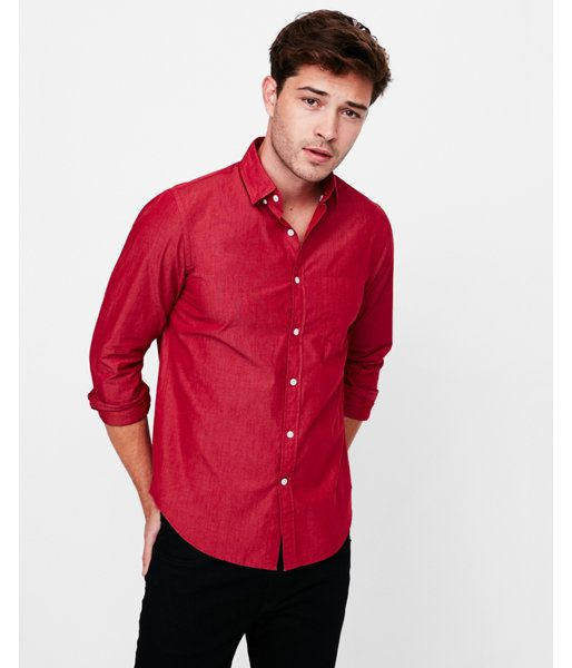 52f0b702596 Big   Tall Classic Soft Wash Shirt Red Men s XXL
