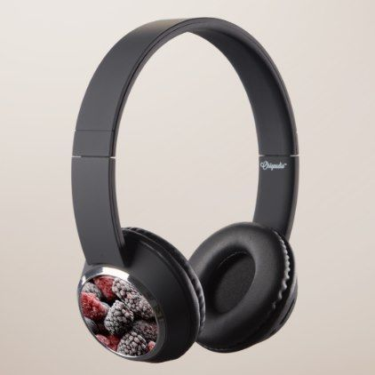 Mixed Berry Fruit Food Kitchen Blueberry Vegan Headphones - vegan personalize diy customize unique