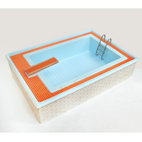 Vintage Lundby Swimming Pool 1970s Lundby Barbie House Furniture My Doll House