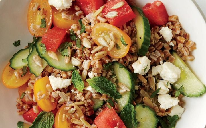 Wheat Berry Salad With Melon And Feta From The Cooking Light Diet