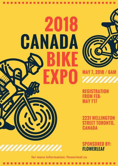Bike Themed Event Flyer Templates By Canva Graphic Pinterest