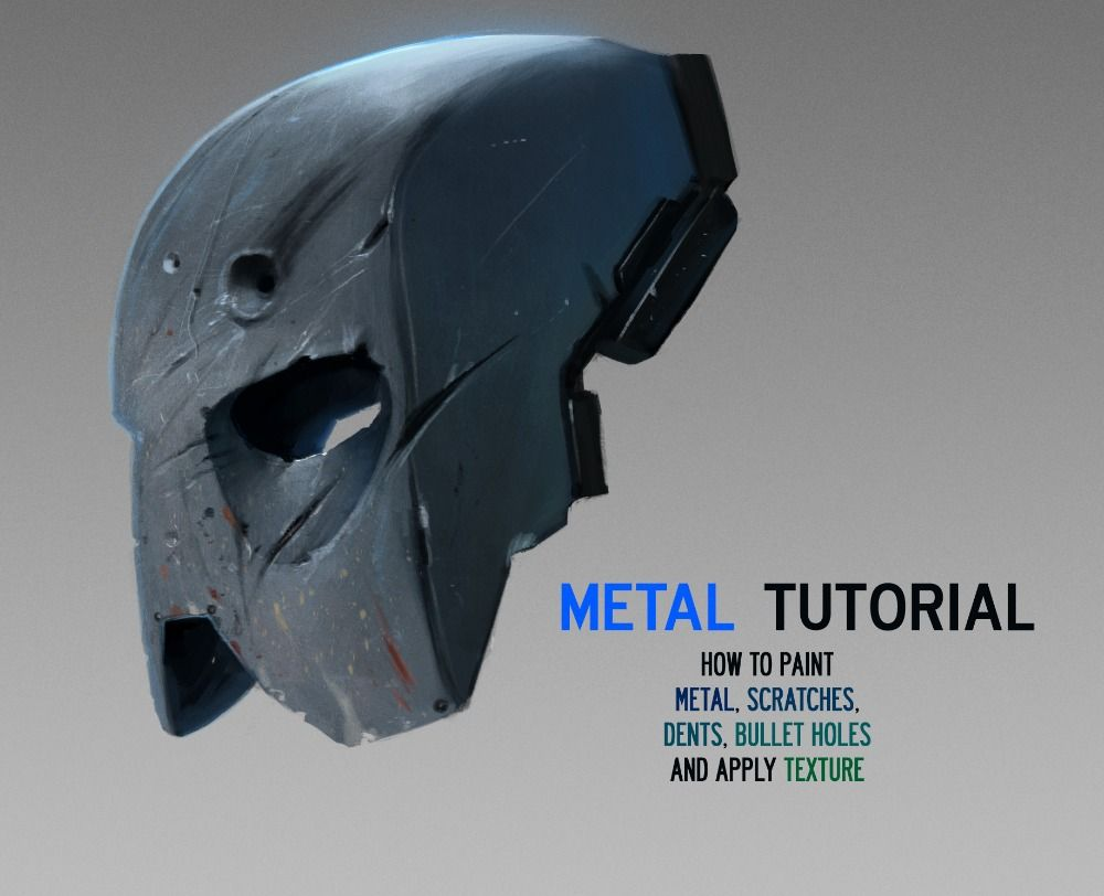 How To Paint And Texture Metal Digital Painting Tutorial Digital Painting Tutorials Painting Tutorial Digital Painting