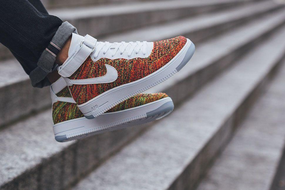 Nike Air Force 1 Flyknit On Feet