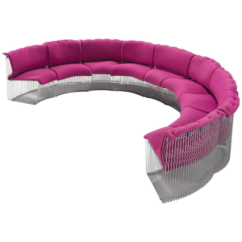 Verner Panton for Fritz Hansen Pink Pantonova Sofa