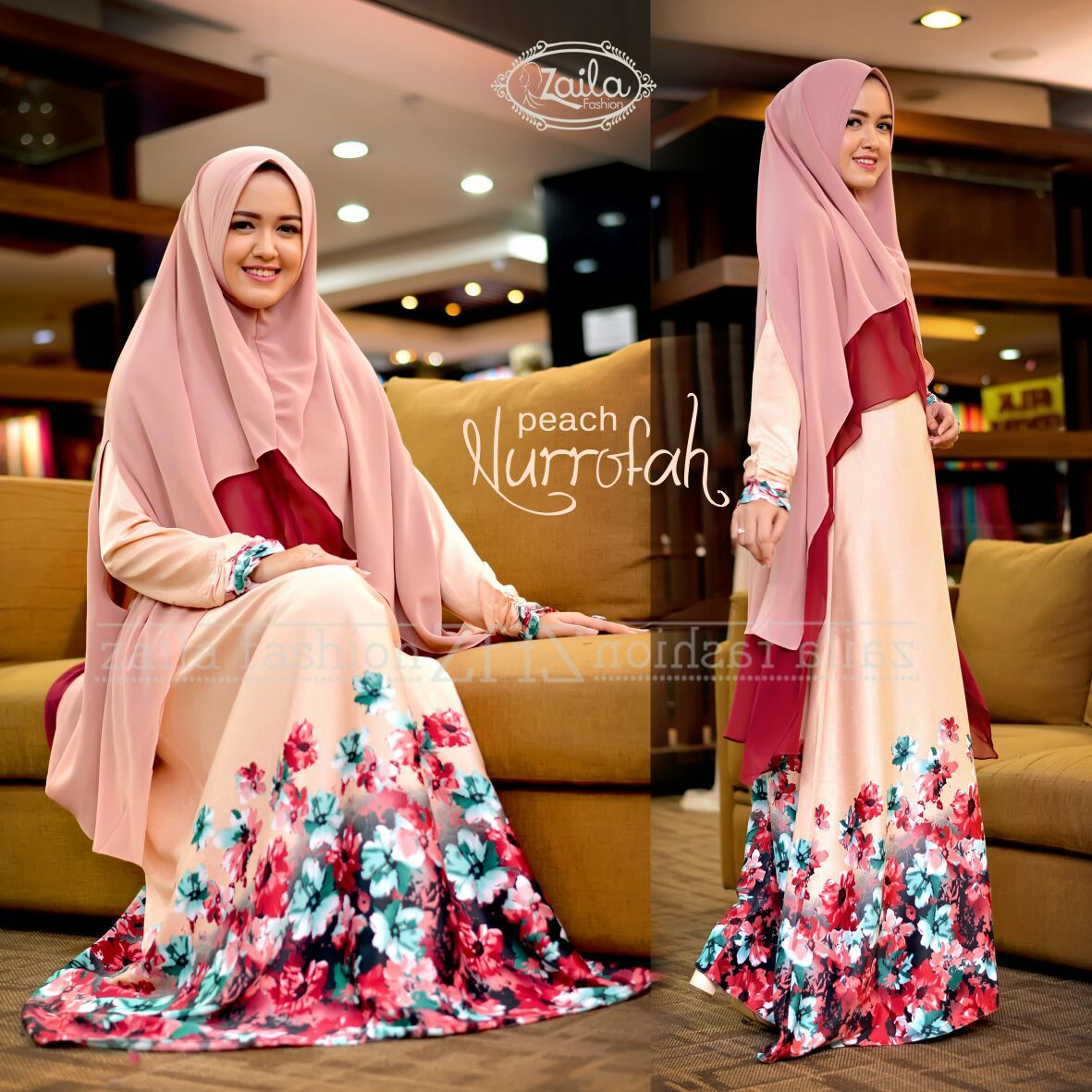Model Gamis Terbaru 2017 Nurrofah By Zaila Fashion