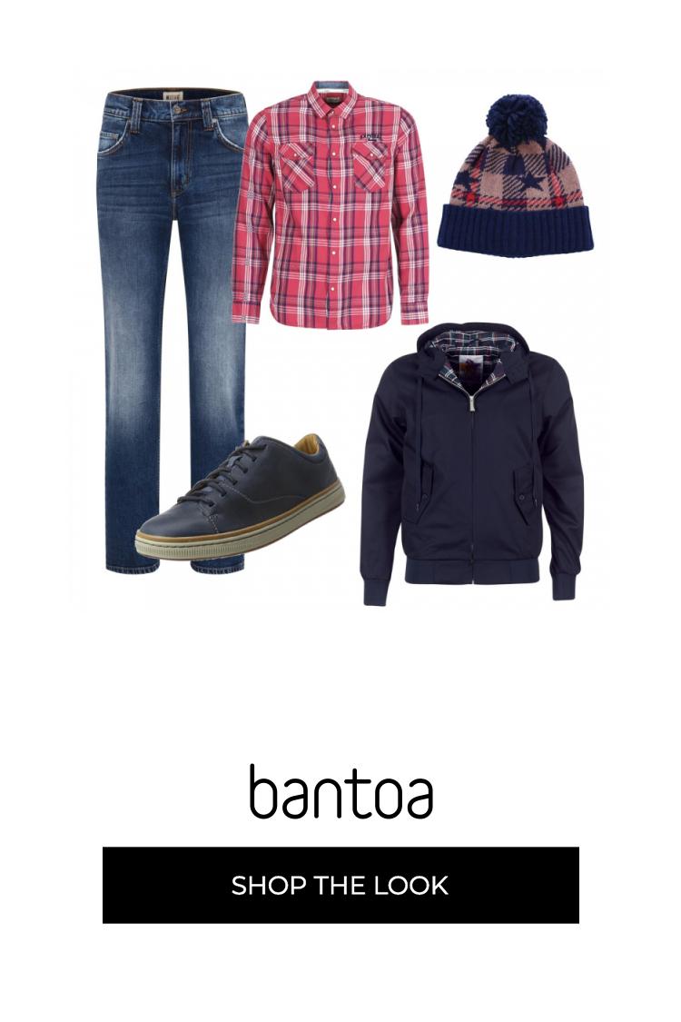 jeans e camicia a quadri giacca