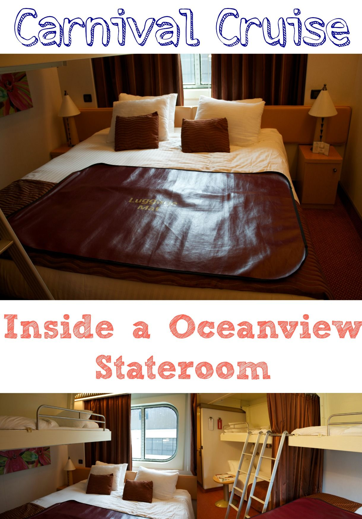 Carnival Cruise: Inside an Oceanview Stateroom aboard the Carnival Magic Cruise ship