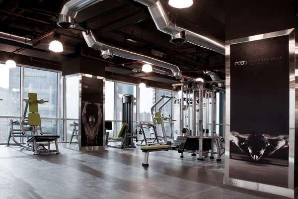 Stylish Workout Centers Gym Design Gym Interior Gym Flooring
