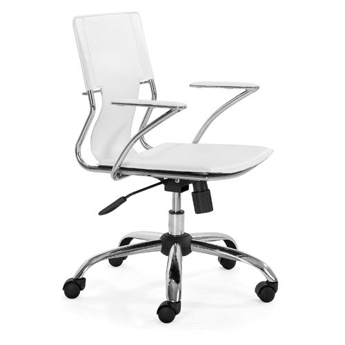 Zuo Modern Trafico Office Chair White Office Chairs Best Buy