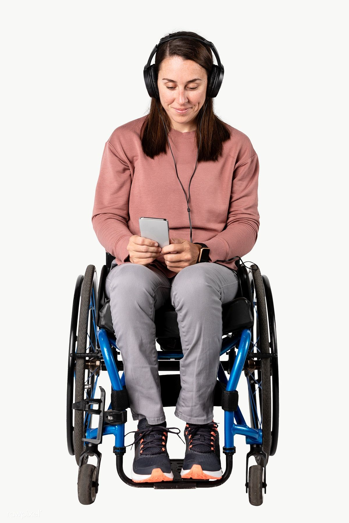 Cool Woman In A Wheelchair Listening To Music Premium Image By Rawpixel Com Mckinsey Wheelchair Wheelchair Women Listening To Music