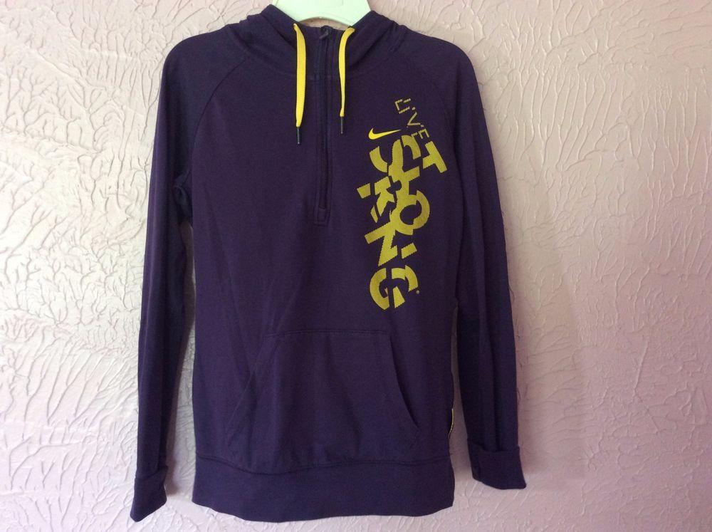 Junior girls womens nike dri fit pullover hoodie jacket