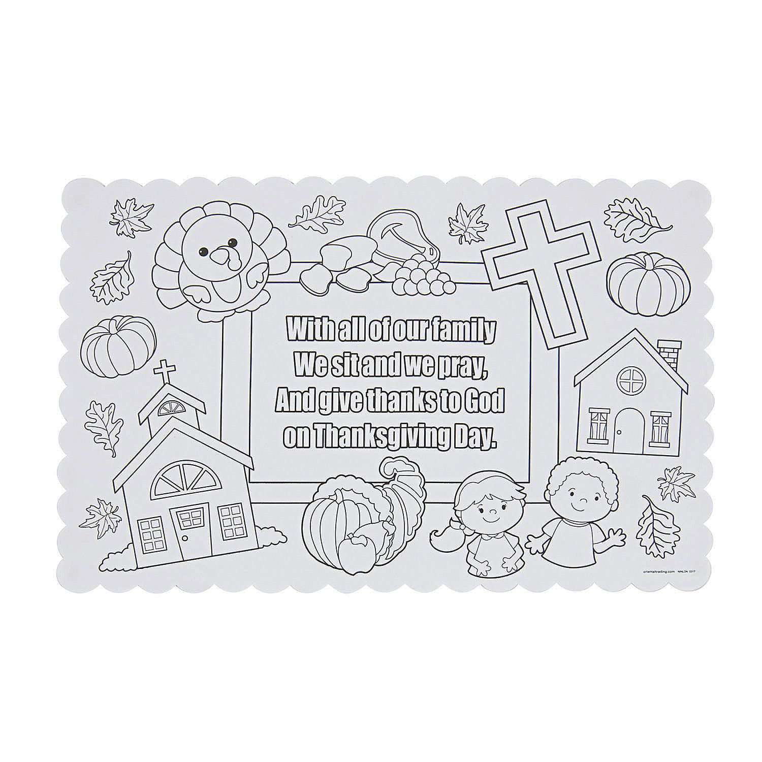 Color Your Own Thanksgiving Prayer Placemats Thanksgiving Prayer Thanksgiving Placemats Thanksgiving Placemats Kids
