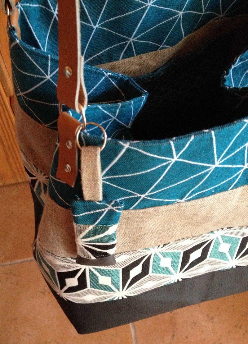 907e5ccdd8 Le grand sac carré | Trousse-Sac | Tuto couture grand sac, Couture ...